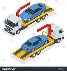 Tow Truck Isometric Vector Tow Truck Stock Vector (Royalty Free ...