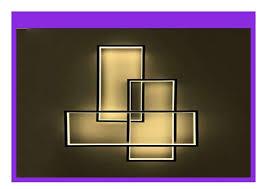 new gbly led deckenleuchte geometrisch wandle warmwei