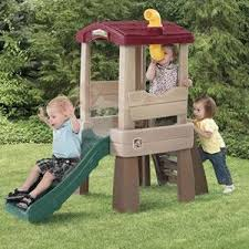Step2 Playhouses Slides U0026 Climbers by Amazon Com Step2 Naturally Playful Lookout Treehouse Toys U0026 Games