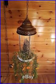 Hanging Swag Oil Rain Lamp by Oil Rain Grist Mill Moving Water Wheel Hanging Swag Light Lamp