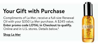 Nordstrom: Free Full Size La Mer The Renewal Oil With $350 La Mer ...