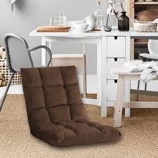 sunnyme bodenstuhl klappbar bodensessel 5 stufig verstellbare faltbar relaxliege faules sofa 5 positionen bodenliege sitzkissen braun 110x50cm