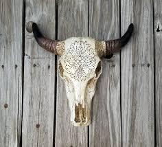 Decorated Cow Skulls Australia by Skull Decorated Skull Taxidermy Skull Decor Boho Decor