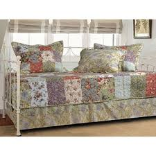Greenland Home Bedding by Greenland Home Fashions Blooming Prairie 5 Piece Cotton Quilt Set