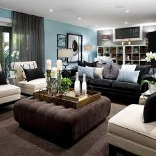 Brown Couch Decorating Ideas by Basement Living Room Ideas Home Interior Decor Ideas