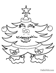 Christmas Tree Coloring Books by Christmas Tree And Stockings Coloring Pages Hellokids Com