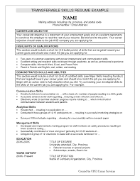 Transferable Skills Resume Examples Career Job Objective Highlights Of Qualifications Demonstrated And Abilities Communication Analytical Management