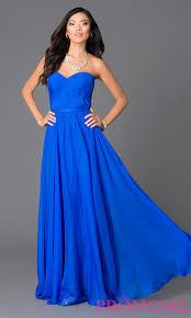 abbie vonn blue long chiffon prom dress promgirl