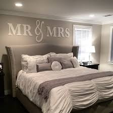 Amazon Mr Mrs Wall Hanging Decor Set Artwork For Home Over Headboard Bedroom Newlywed Gift Bride And Groom Wedding King Or