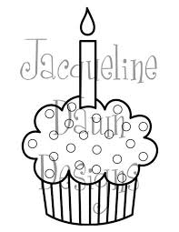 Drawn cupcake candle template 15