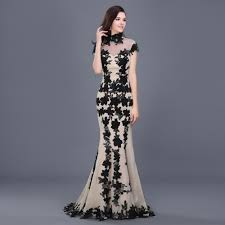 elegant cheap long black mermaid formal evening dress 2016