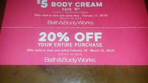 Current Bath And Body Works Coupons