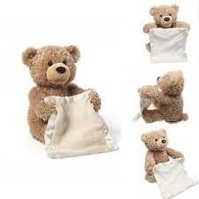 Image Is Loading BABY Peek A Boo Teddy Bear Animated 33cm