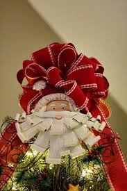 Christmas Tree Toppers Ideas by Christmas Tree Ribbon Placement Best Tree Toppers Images On