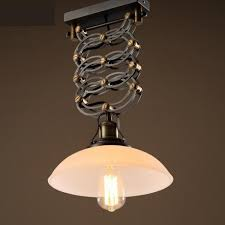 Kitchen Lifting Light Vintage Retractable Pendant Lamp American Industrial Lighting Dining Room Glass Lights Pendientes