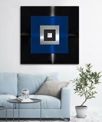 original abstrakt metall bild 3d modern deco über sofa