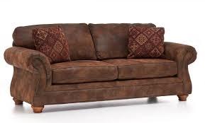Beautiful Microfiber Leather Sofa Laramie Broyhill Schniederman39s Stocked In Rustic