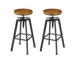 VILAVITA 2-Set Bar Stools, 24.8 Inch To 30.8 Inch Adjustable Height Swivel  Counter Height Bar Chair, Retro Finish Industrial Style Wood Barstools Adjustable Height Swivel Barstool 3 Pieces Bronze Color Kitchen Home Chair Seat Ebay Pueblo Bar Stool With Iron Base By Intertional Fniture Direct At Dunk Bright American Antique Industrial Design Pu Leather Round Sage Office Mid Back Armrest Boston Oria Original Early 20th Century Welded Joint Antique American Medical Adjustable Height Dental Or Hospital Examination Room Swivel Chair Armrests And Tyner Porthos White Adjustableheight Winford Mix Grey Tuffed Viscologic Serenity 23 To 31 Inch Bar Stools Set Of 2
