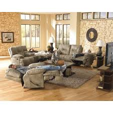 Darrin Leather Reclining Sofa With Console by Catnapper Nolan Leather Reclining Sofa Set Godiva Hayneedle
