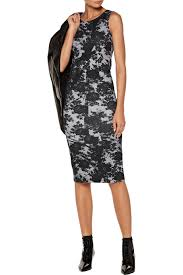 printed stretch cotton dress mcq alexander mcqueen us the outnet
