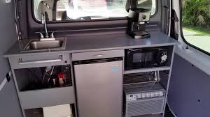 Mercedes Sprinter Work Van Kitchen Custom Conversion RV DIY