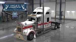 100 Mclane Trucking Uncle D Logistics McLane Foodservice Distribution W900 Skin ATS Mods