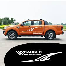 100 Custom Decals For Trucks D Ranger Car DIY Decoration Stickers Car Side Body Decal Word