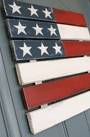 Outdoor 4th Of July Decor Pallet FlagPallet SignsWood