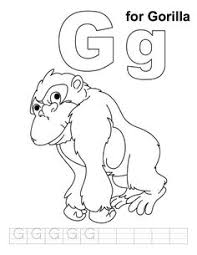 G For Gorilla Coloring Page With Handwriting Practice