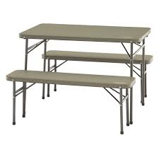 Coleman Folding Table & Bench Set