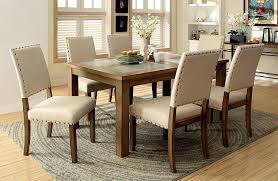 100 Oak Table 6 Chairs Amazoncom Furniture Of America Lucena 7Piece Transitional Dining