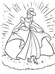 Cinderellas New Beautiful Dress In Cinderella Coloring Page