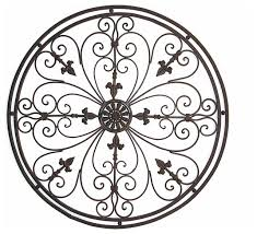 Tuscan Wrought Iron Wall Art Beauteous Adrianna 36 Round Metal Grille