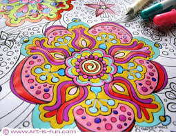 Full Image For Free Online Mandala Coloring Pages Adults Printable Abstract Book By Thaneeya
