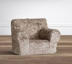 bear faux fur anywhere chair slipcover only pottery barn kids