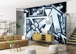 fototapete abstrakte linien graffiti blau grau fototapeten tapete wandbild m4834