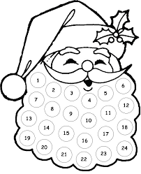 Glue Cotton Balls Onto Santas Beard From 24 To One As You Count Down Christmas