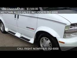 1999 Chevrolet Astro AWD CONVERSION VAN For Sale In GREELEY