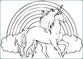Unicorn And Rainbow Coloring Pages Page Download Sheet To