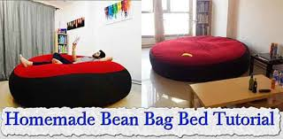 Homemade Bean Bag Bed Tutorial