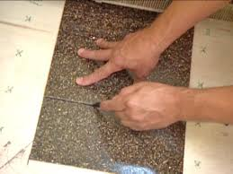 Stagger Seams Of Tiles Cutting Them As Needed