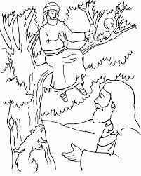 Coloring Pages Jesus And Zacchaeus Page About