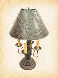 Punched Tin Lamp Shade Country by Katies Lighthouse Primitive Abby Lamp