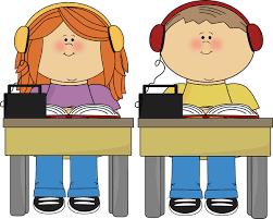 Schook Kids Listening to Books Clipart Pinterest