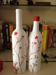 Decorative Wine Bottles Crafts by 211 Best Pretty Wine Bottles Images On Pinterest Decorated