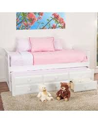 Deal Alert Baxton Studio Ballina Trundle Twin Bed in White