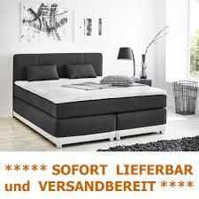 boxspringbett 180x200 grau weiß mit topper kissen komfortbett 10611 expendio