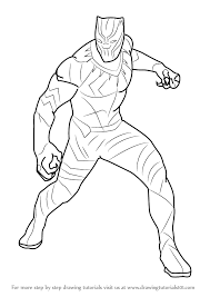 Civil War Coloring Pages 2018 Free Printable Black Panther Drawing For Kids