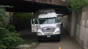 100 Truck Driving Driving On Ohio Bike Path Hits Multiple Bridges Gets Stuck