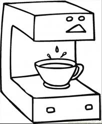 Fresh Coffee Coloring Page